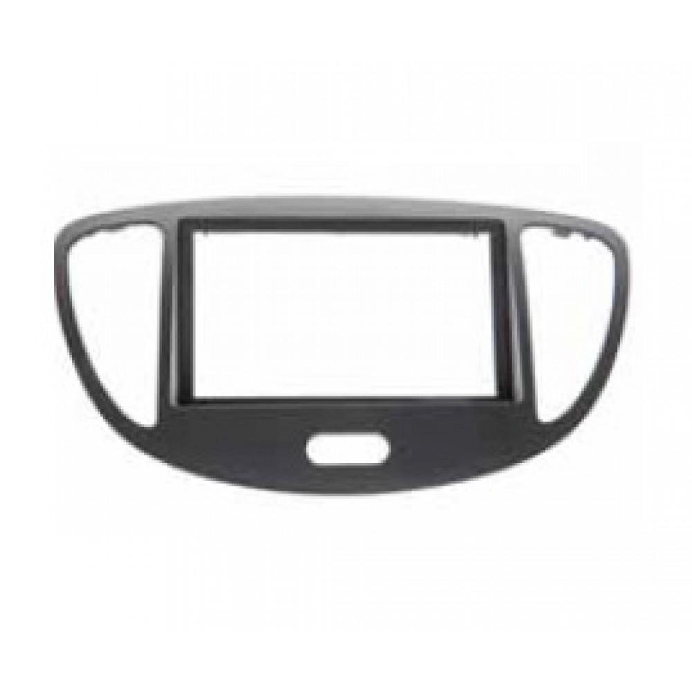 Radio Frame - Hyundai i10 2011 - 2DIN - Colour: Black
