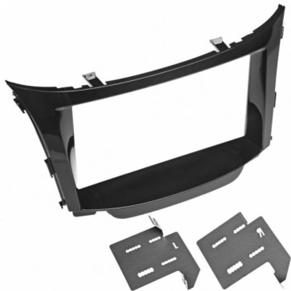 Radio Frame - Hyundai i30- 2DIN - Colour: Black