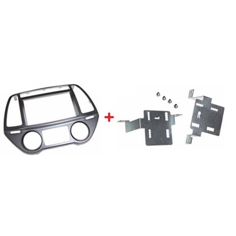 Radio Frame - Hyundai i20- 2DIN - Clima Automatico - Colour: Black