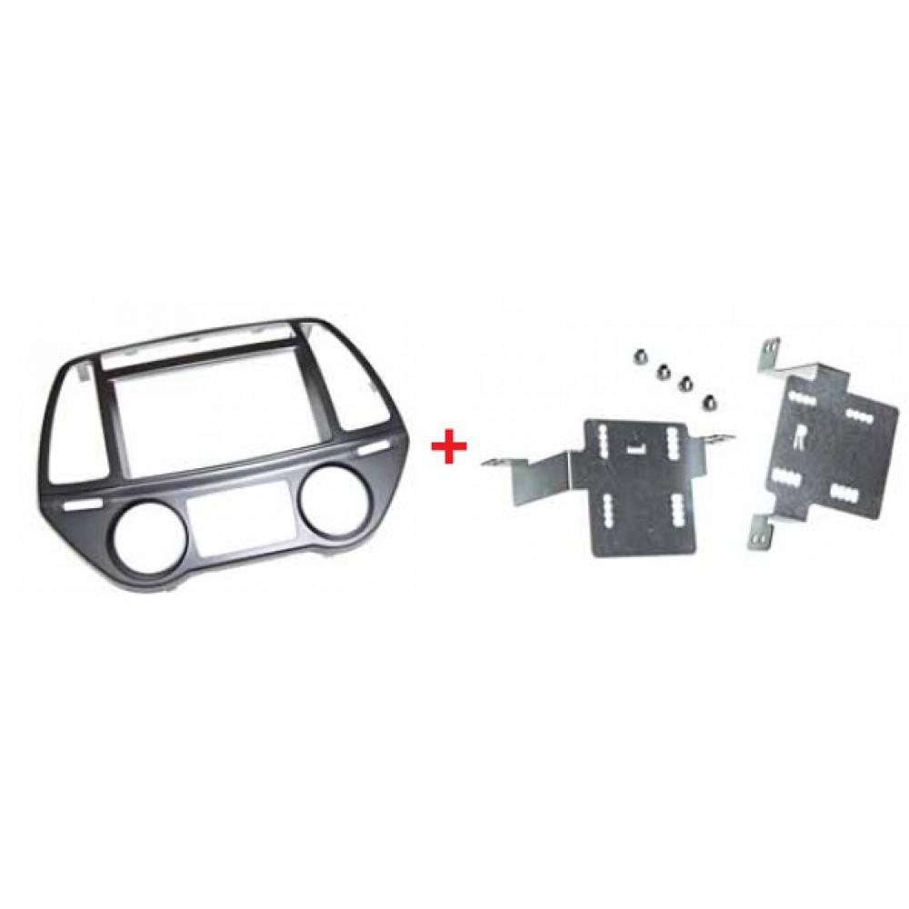 Radio Frame - Hyundai I20 - 1DIN - Color: Black