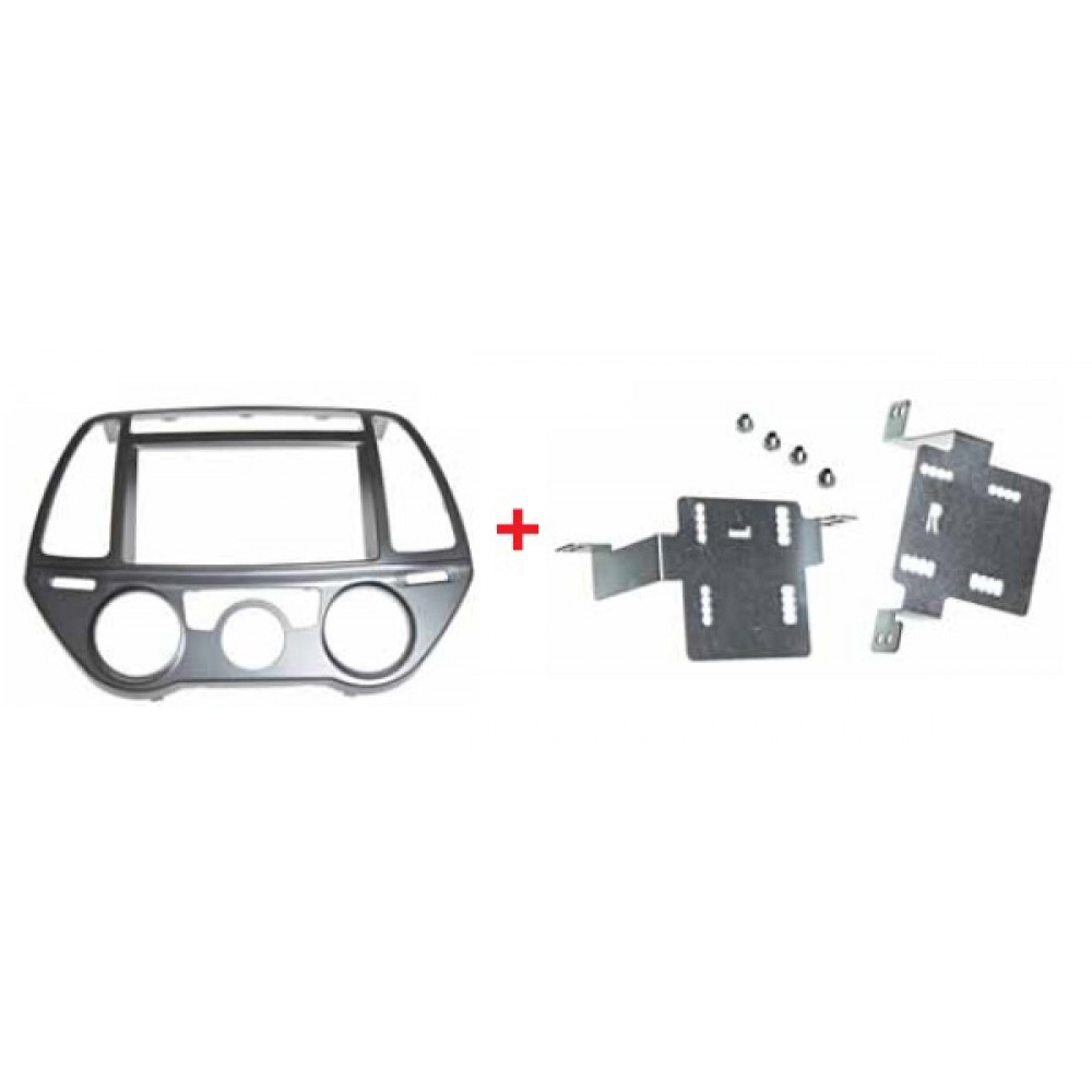 Radio Frame - Hyundai i20- 2DIN - Clima Automatico - Colour: Silver