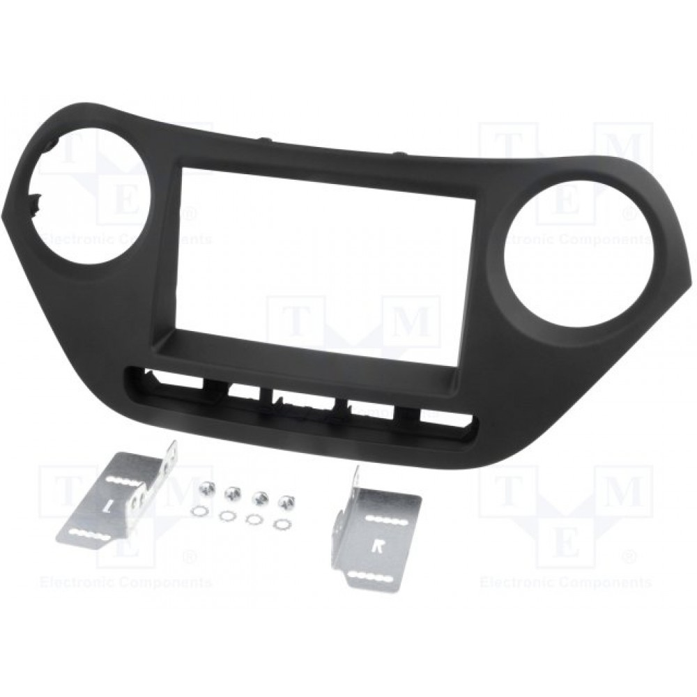 Radio Frame - Hyundai i10 - 2DIN - Colour: Black