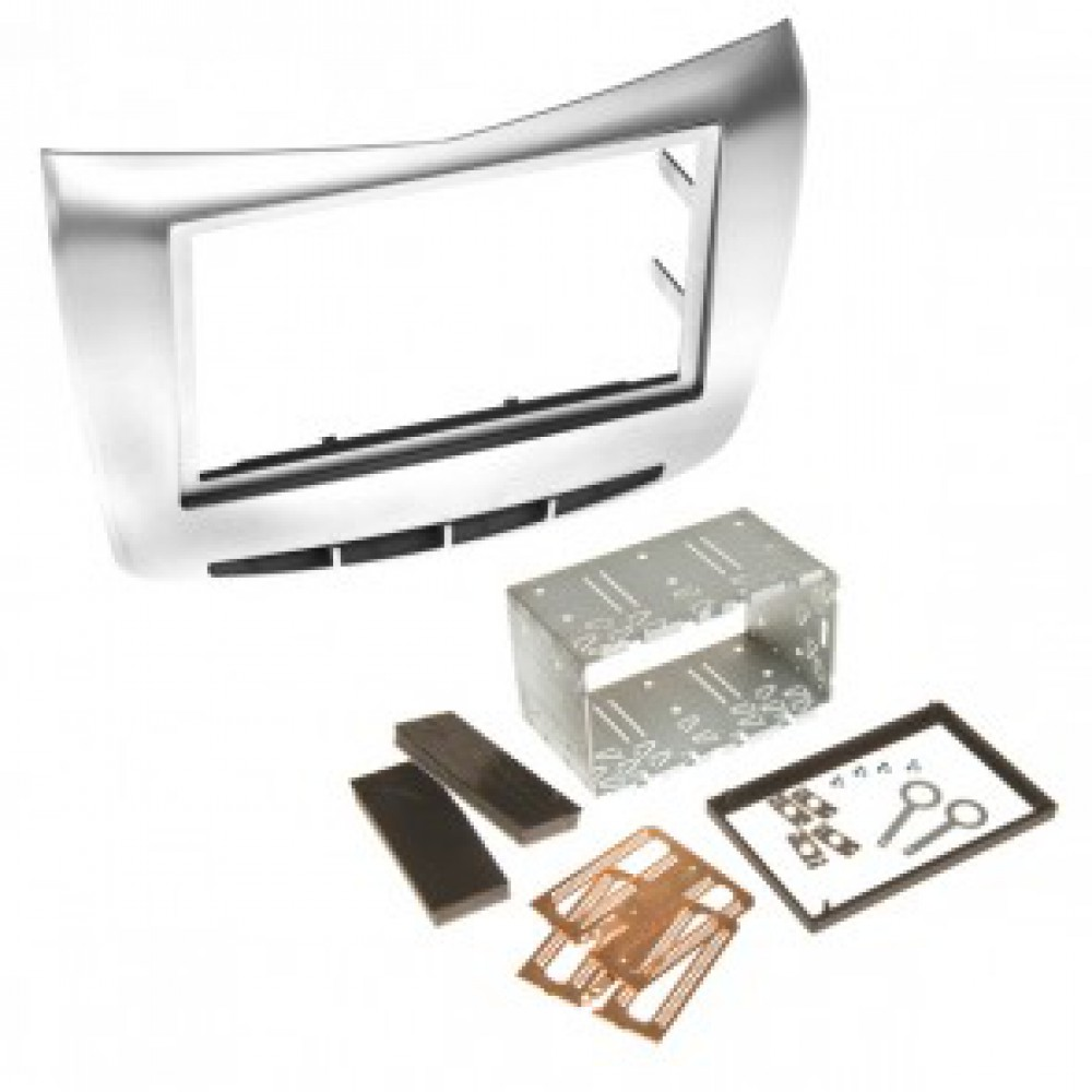 Radio Frame - Lancia Delta 2009 - 2DIN - Color: Silver
