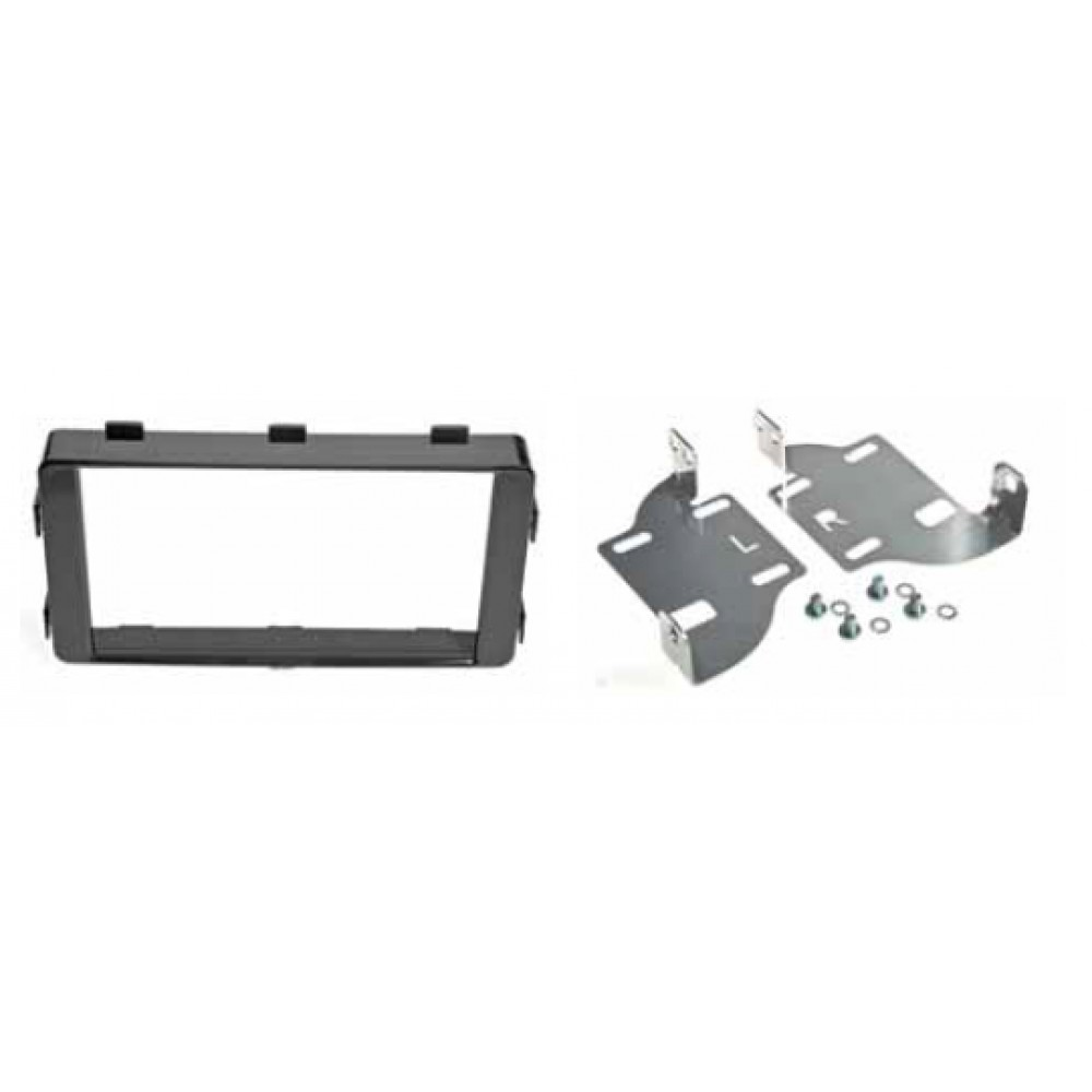 Radio Frame - Mitsubishi Outlander 2013 - 2DIN - Color: Shine Black