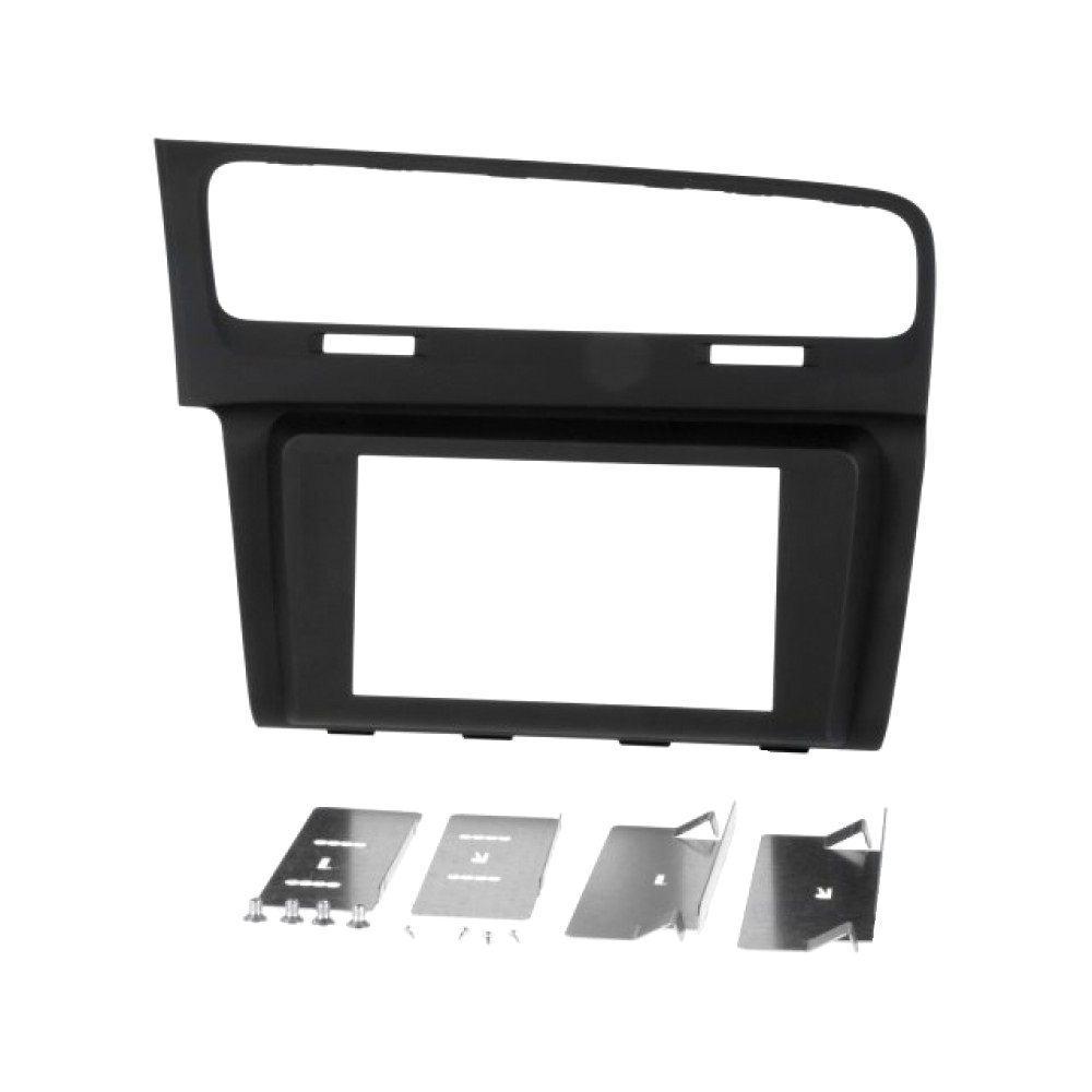 Radio Frame - Volkswagen Golf VII 2012 - 2DIN - Color: Black