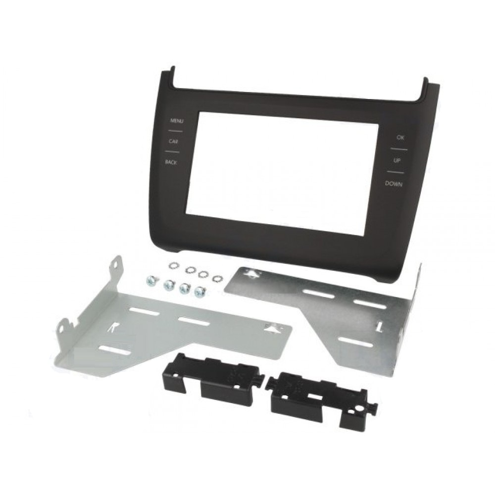 Radio Frame - Volkswagen Polo 2014 - 2DIN - Color: Dark grey