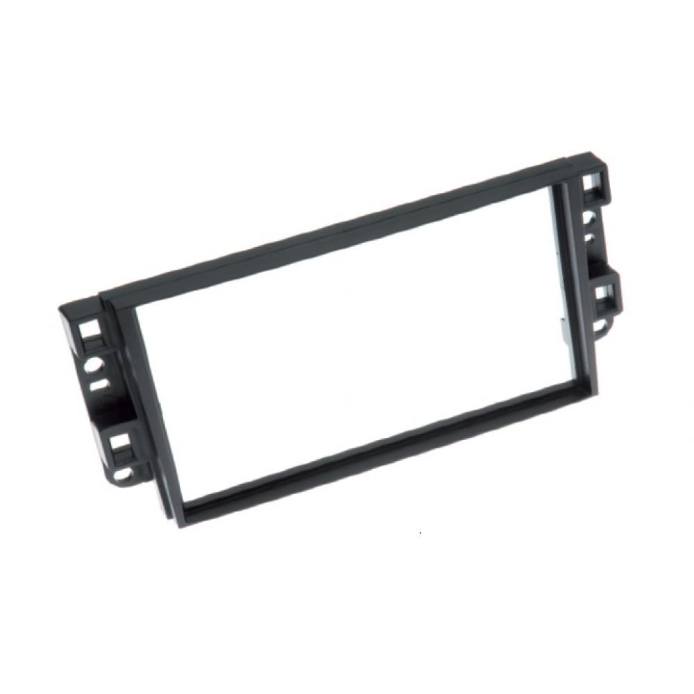 Radio Frame - Chevrolet Aveo - 2DIN - Color: Black