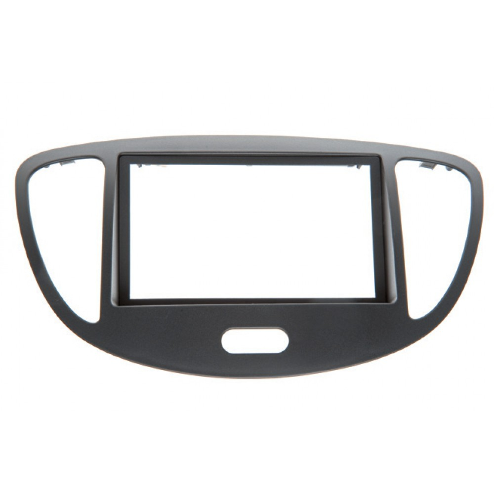 Radio Frame - Hyundai I10 - 2DIN - Color: Black